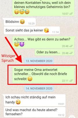 Würdest mir machen whatsapp du welches mit bild Gesprächsthemen WhatsApp: