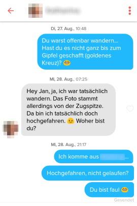 dating erste mail beispiel)