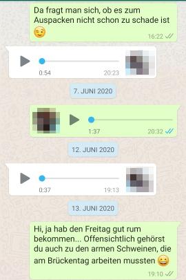 Mit gesprächsthemen schwarm whatsapp Worüber kann